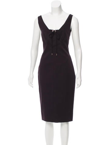 Gucci Wool Cocktail Dress None