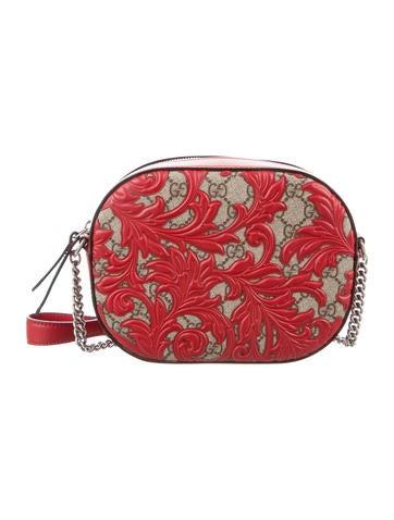 Gucci GG Supreme Arabesque Mini Chain Bag