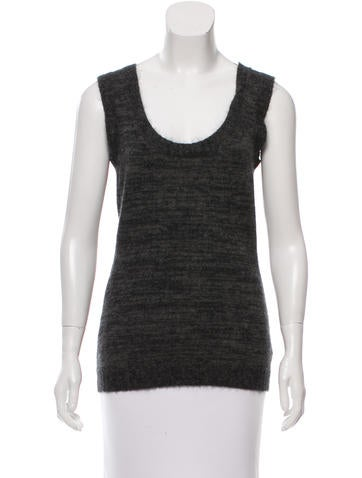 Gucci Cashmere & Mohair-Blend Sleeveless Sweater None