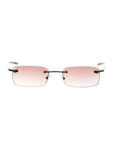 Rimless Gradient Sunglasses