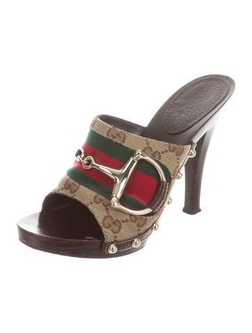 GG Canvas Slide Sandals