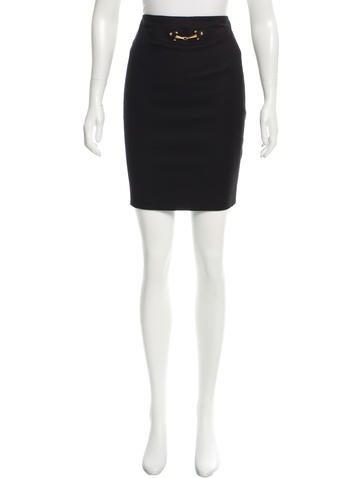 Gucci Wool Horsebit-Accented Skirt