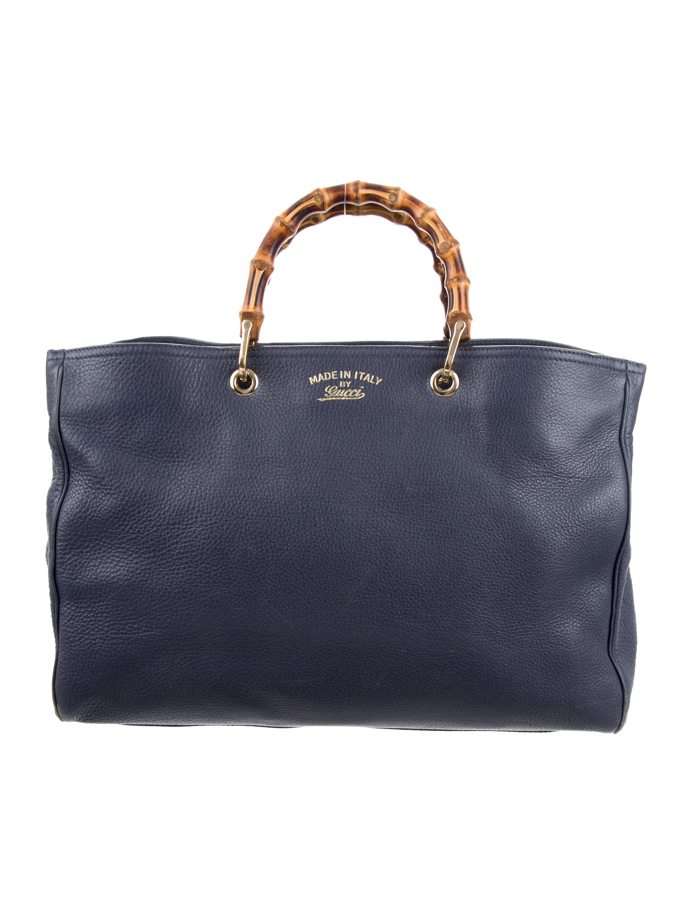 gucci large bamboo shopper tote handbags guc126953 the realreal. Black Bedroom Furniture Sets. Home Design Ideas
