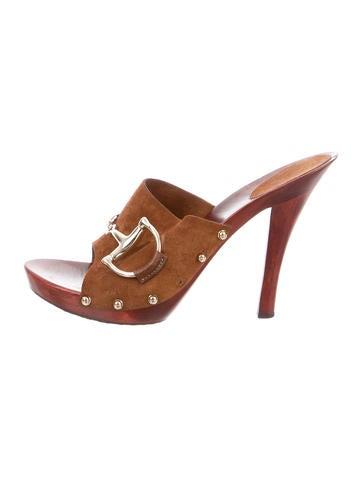 Horsebit Suede Slide Sandals