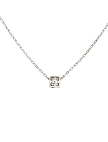Gucci 18K Diamond G-Cube Pendant Necklace