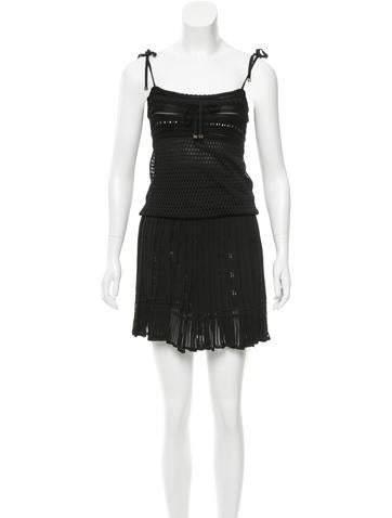 Gucci Open Knit Pleated Dress None