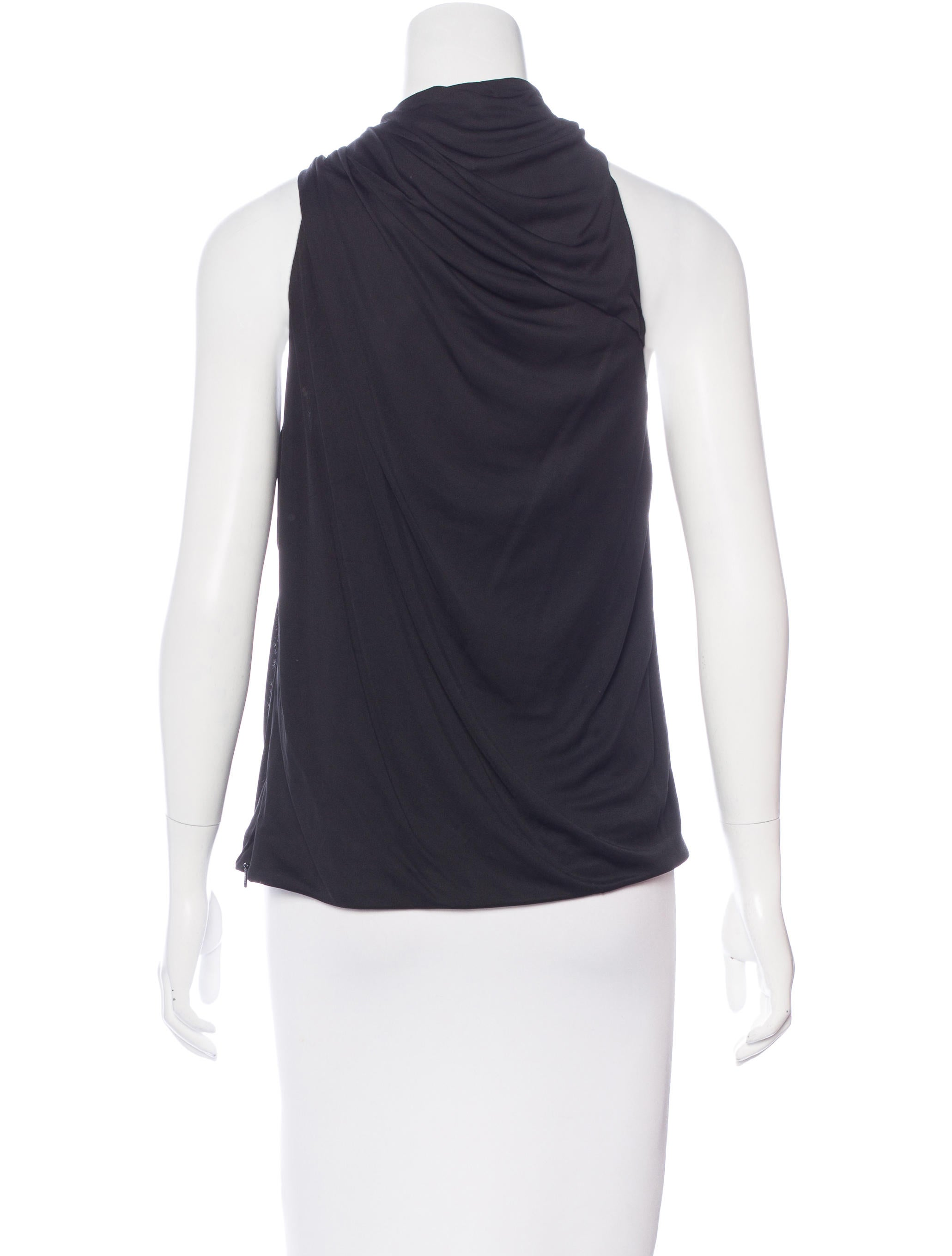 Gucci sleeveless mock neck top clothing guc127785 for Sleeveless mock turtleneck shirts