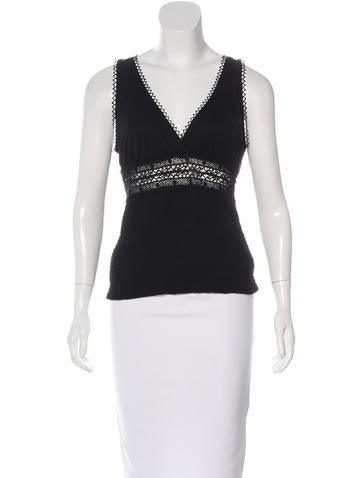 Gucci Sleeveless Crochet Top None