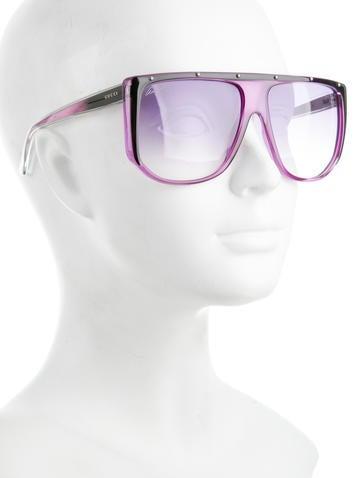 Oversize Flat Top Sunglasses