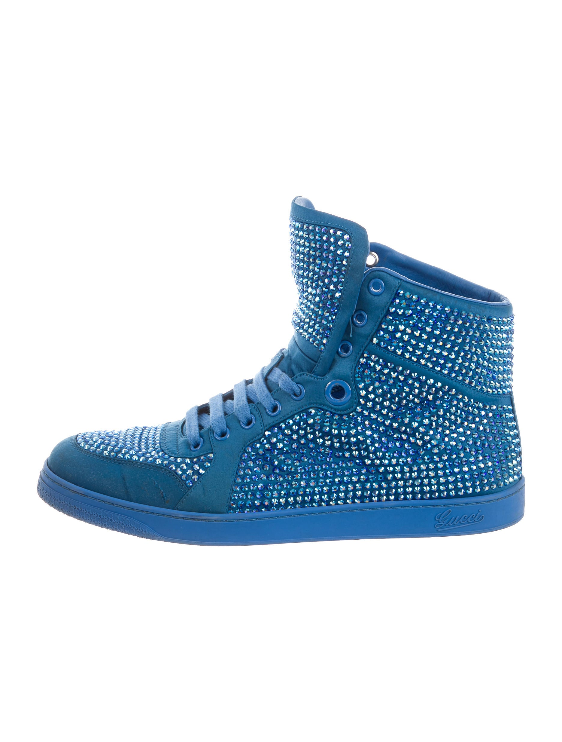 e41ef001628 Gucci Coda Crystal Embellished High-Top Sneakers - Shoes - GUC129274 ...
