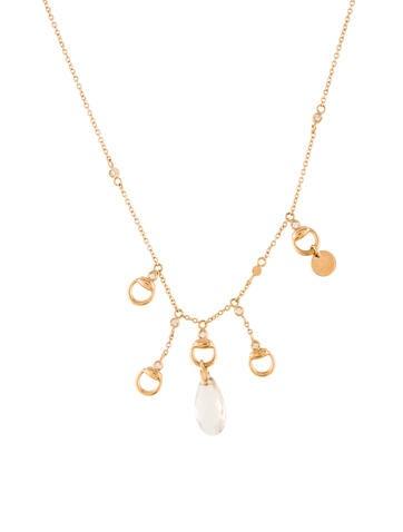 Gucci Diamond & Topaz Horsebit Necklace