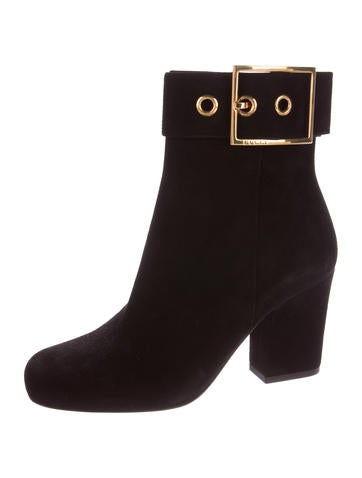 Buckle-Accented Ankle Boots