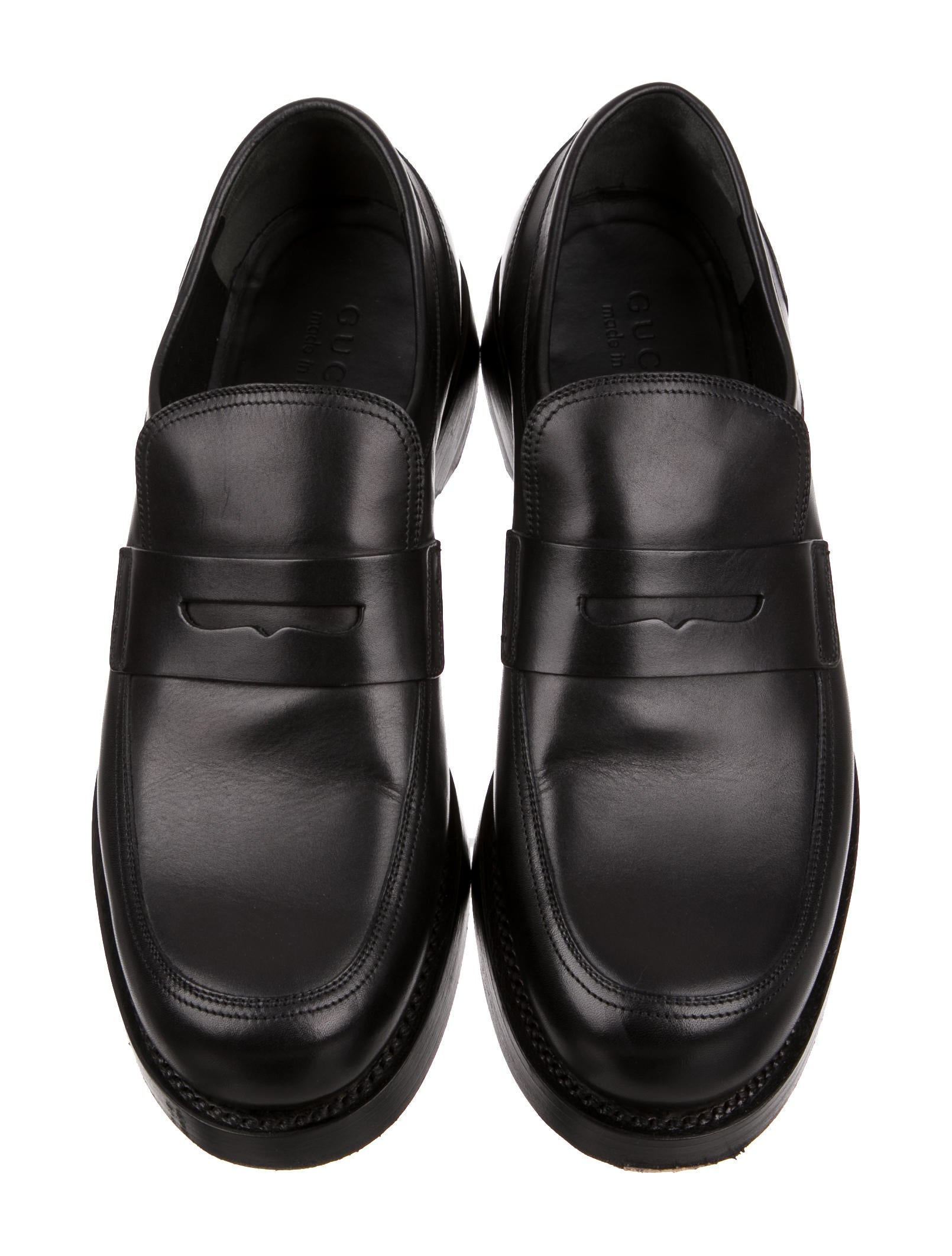 gucci leather penny loafers mens shoes guc130417 the. Black Bedroom Furniture Sets. Home Design Ideas