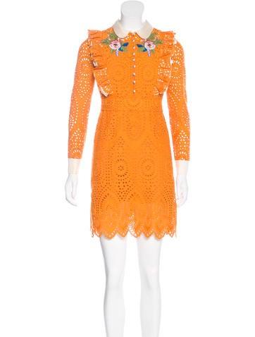 2017 Embroidered Eyelet Dress