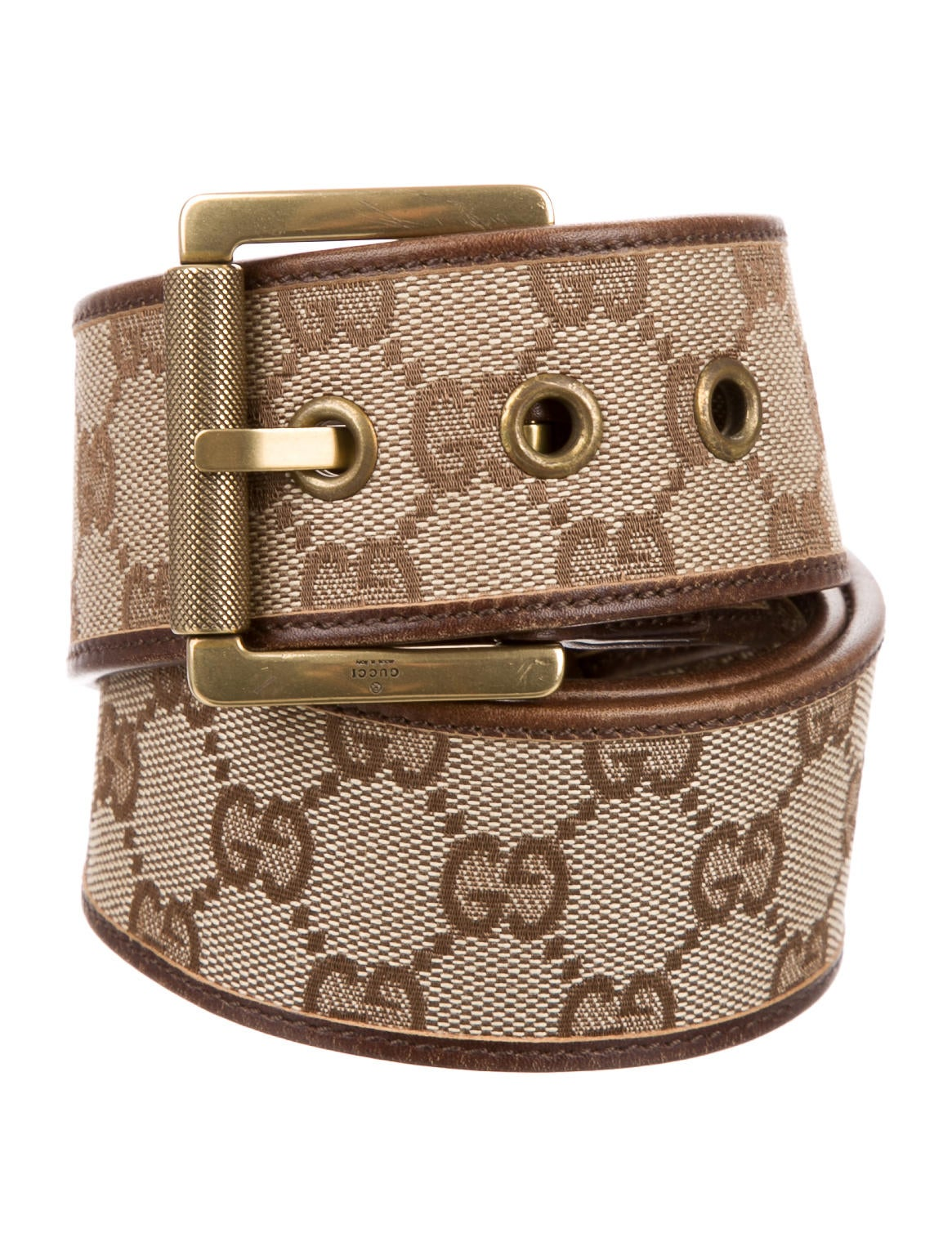 gucci gg canvas wide belt accessories guc130818 the