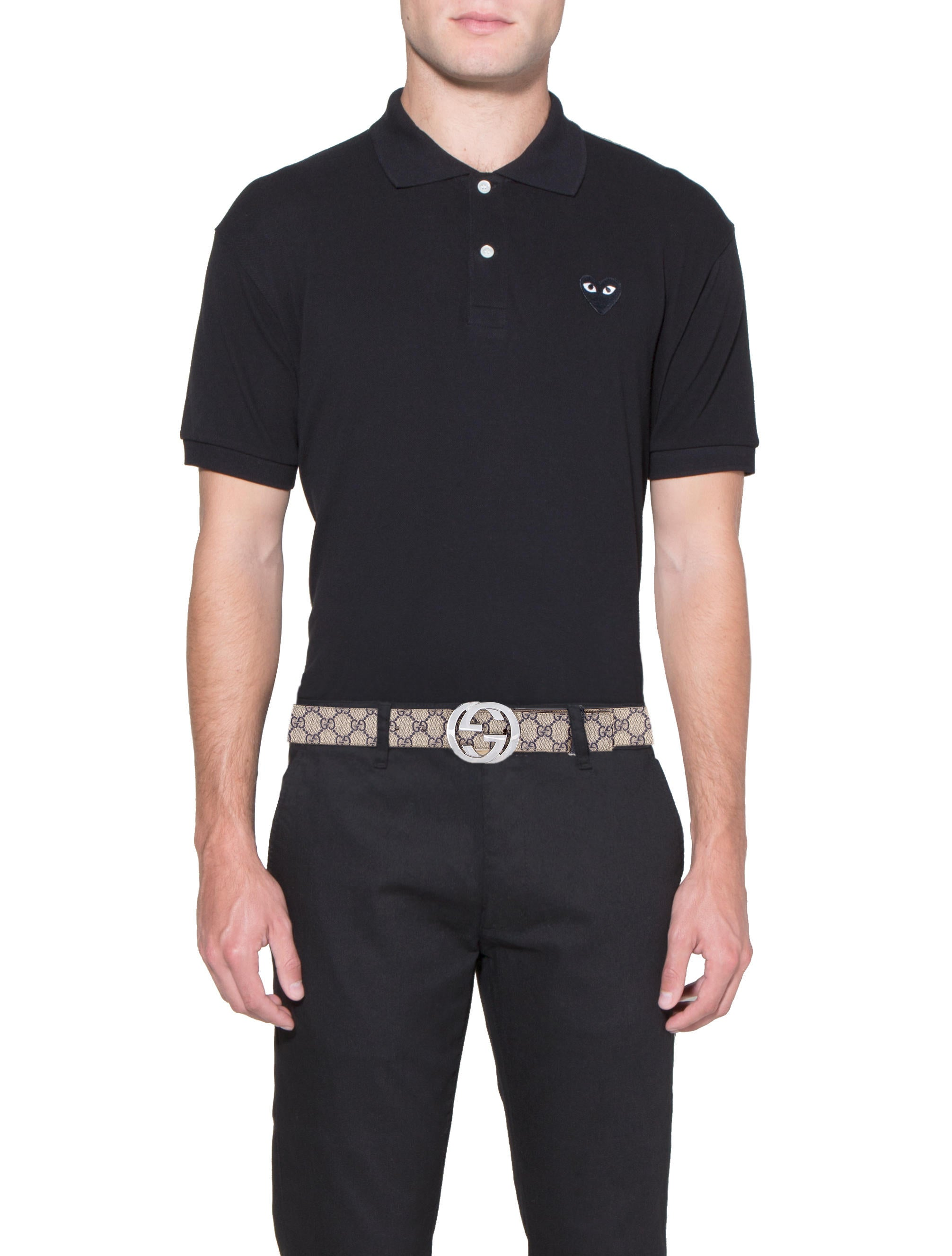 bc9832f0ef02 Mens Grey Gucci Polo Shirt   Toffee Art