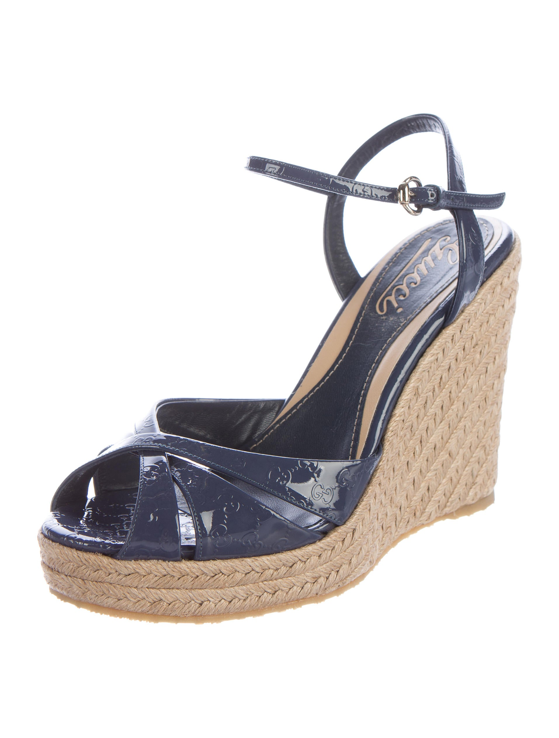 gucci microguccissima espadrille wedges shoes