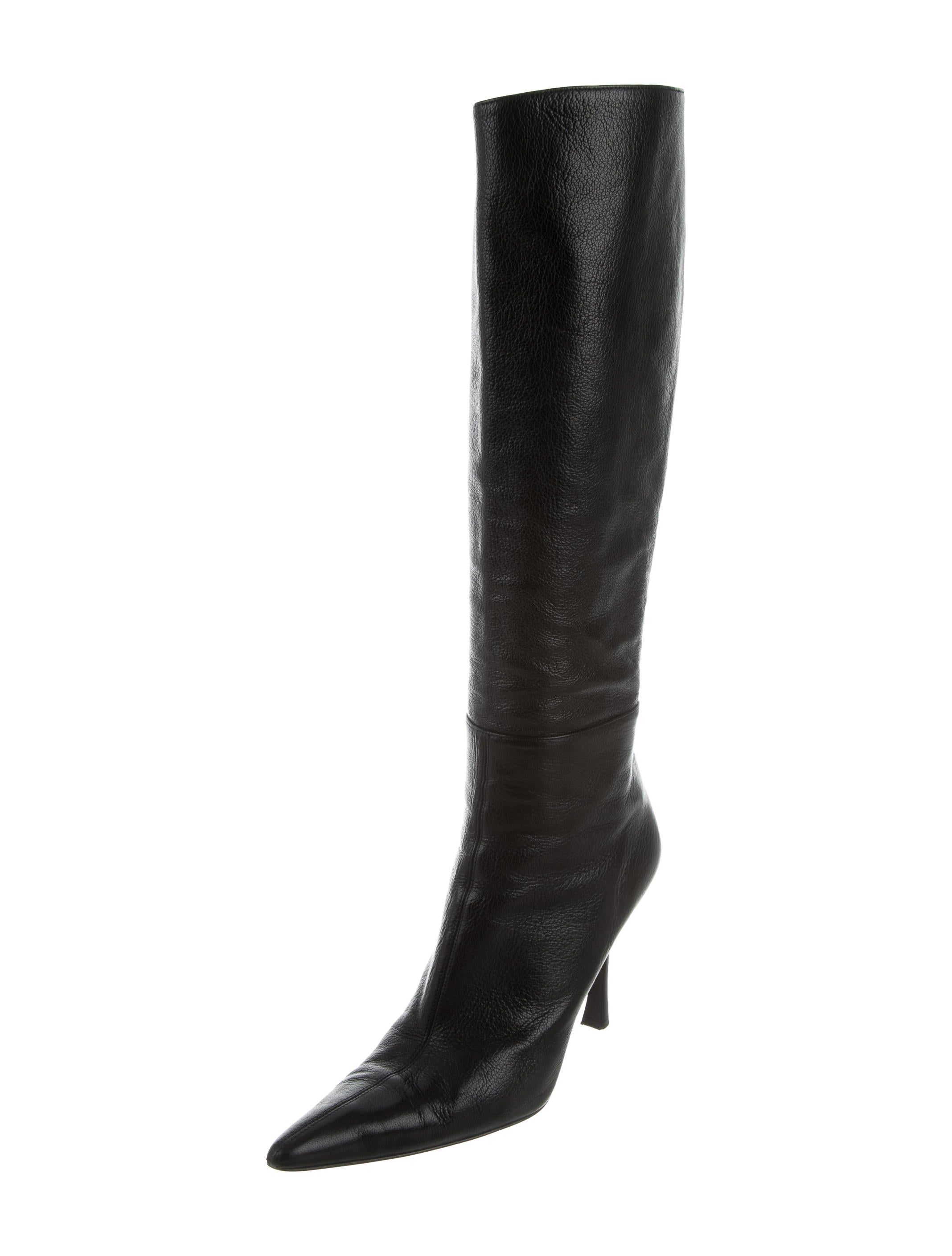 gucci pointed toe knee high boots shoes guc131442