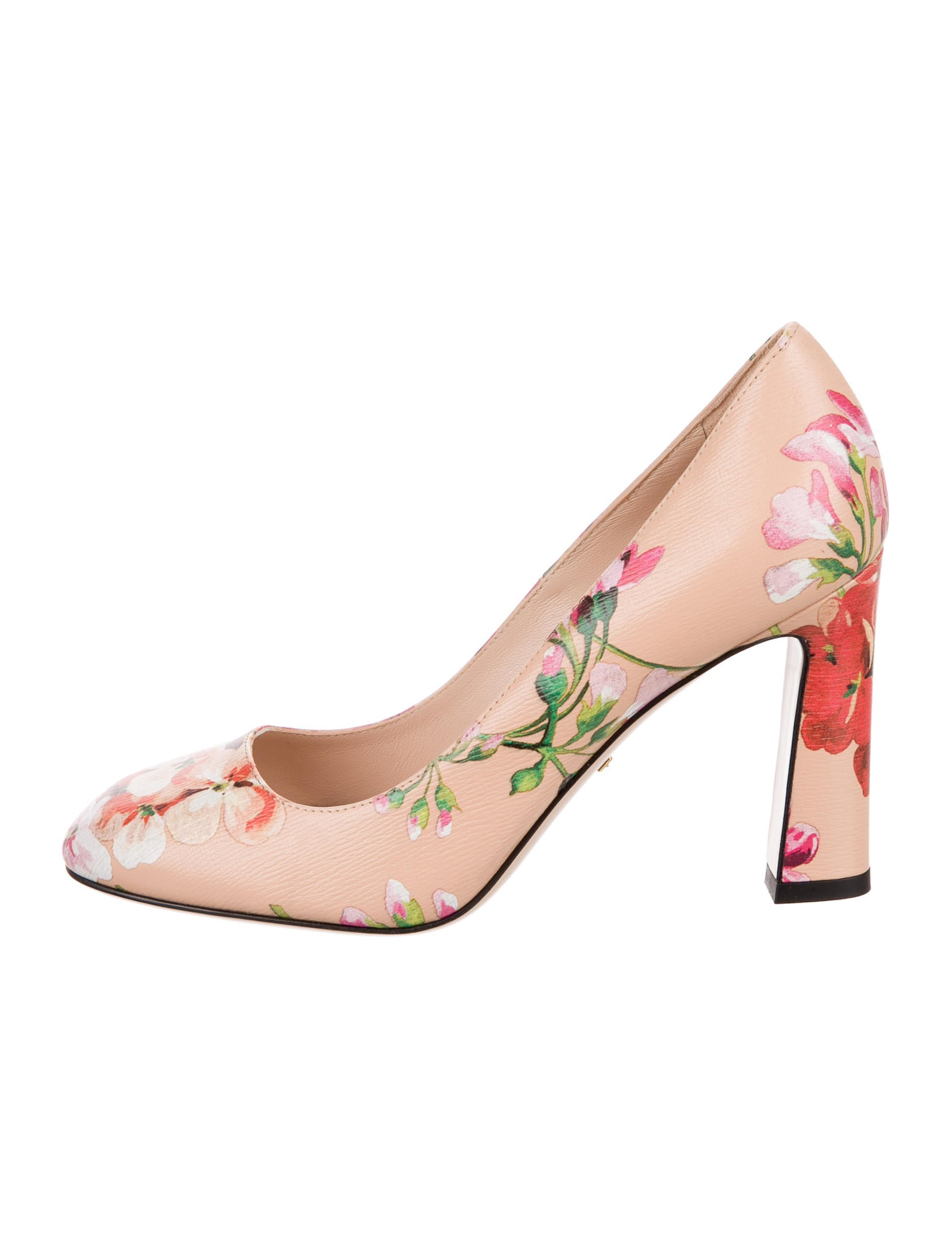 gucci 2016 marine floral pumps - shoes