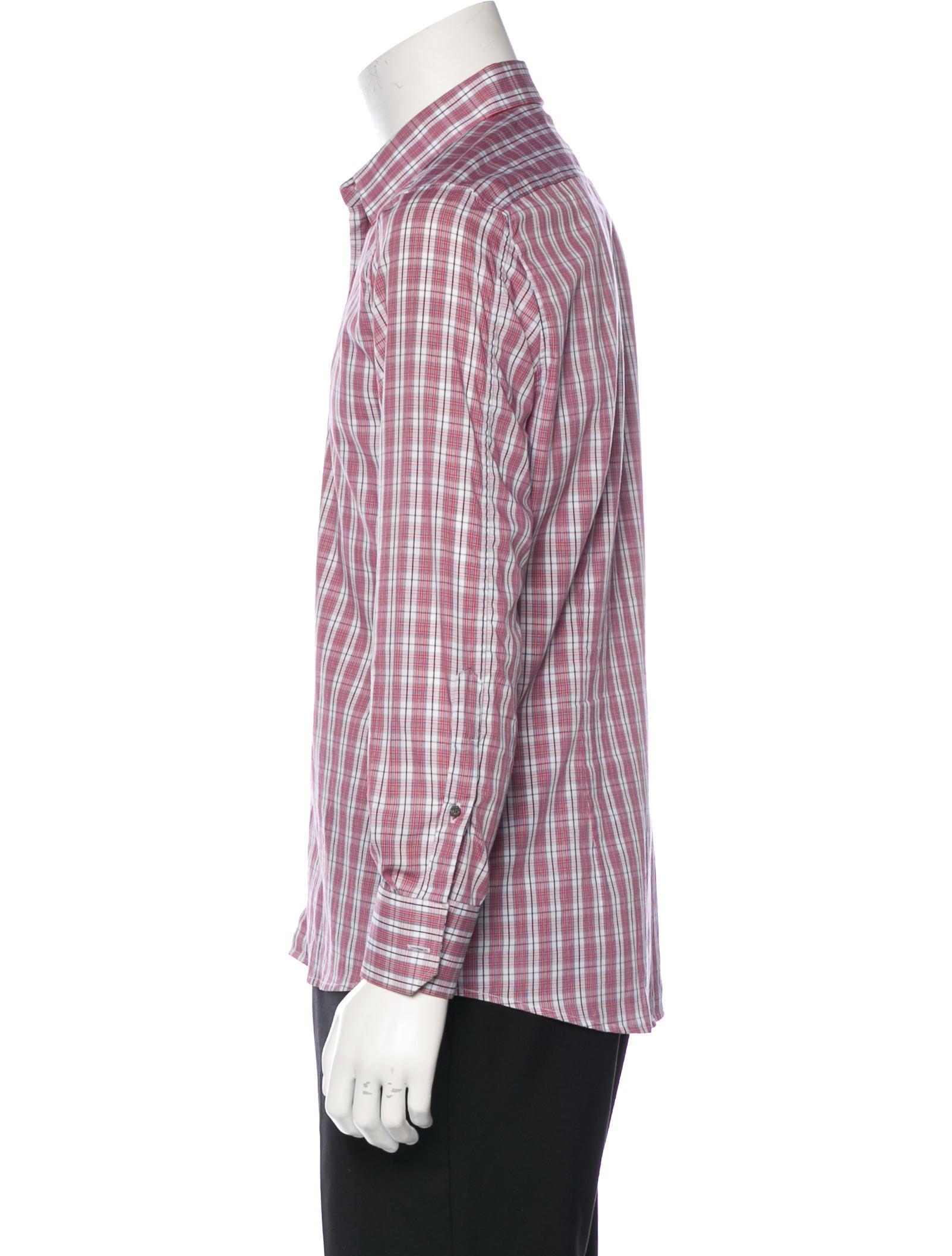 Gucci Plaid Dress Shirt Clothing Guc131590 The Realreal