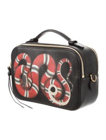 Snake Print Top Handle Bag