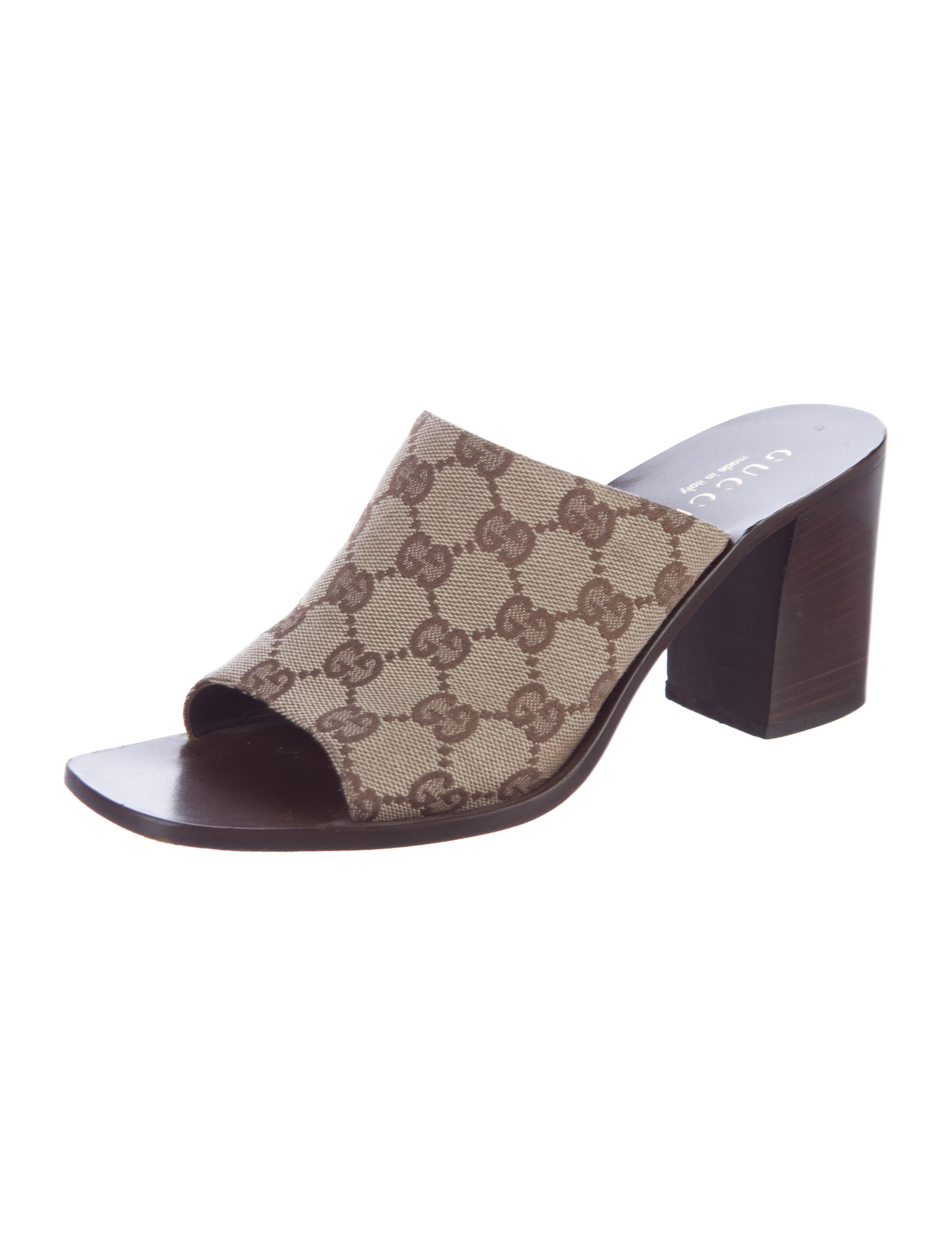 gucci gg canvas slide sandals shoes guc131891 the