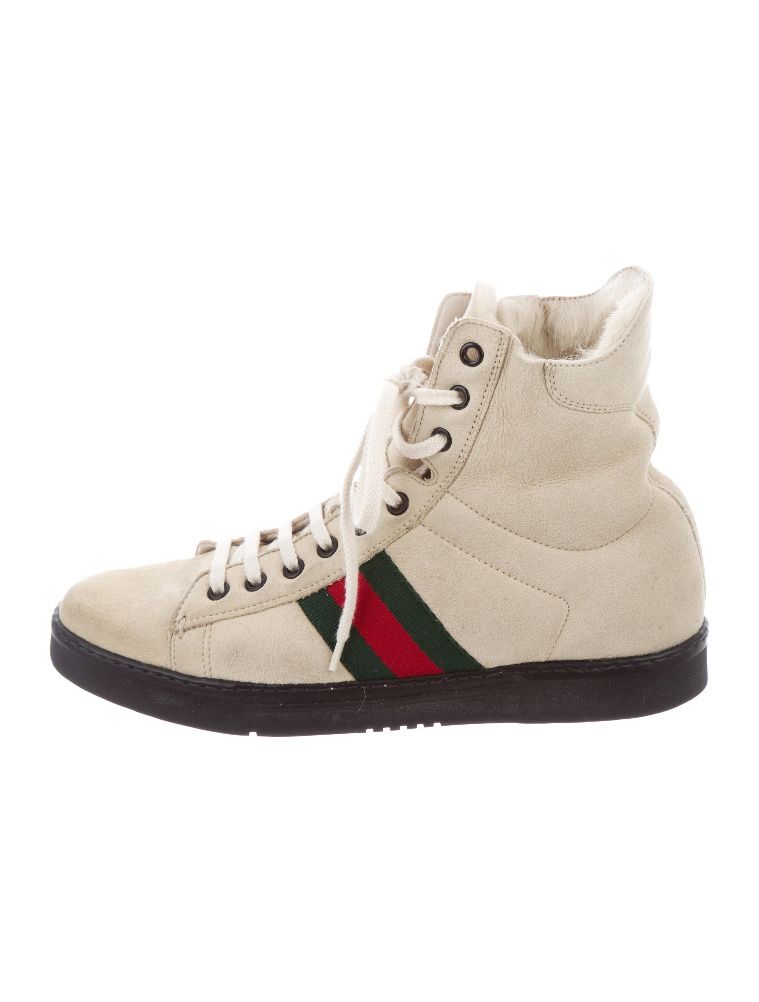 59fad9abf63 Gucci High Top Sneakers With Fur