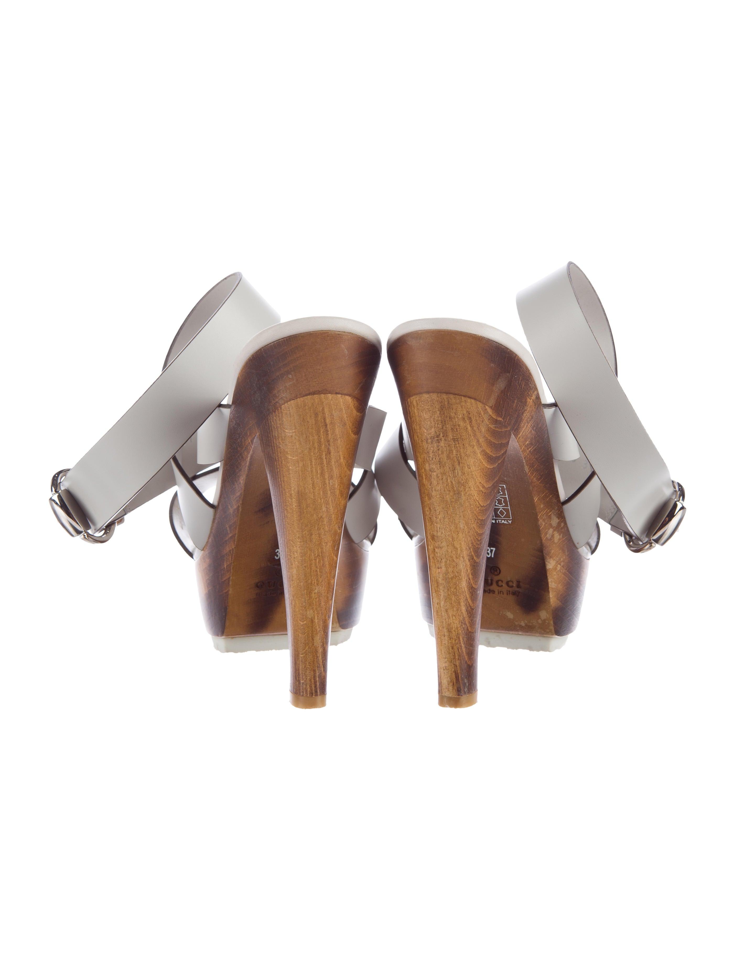 Leather Platform Sandals 41