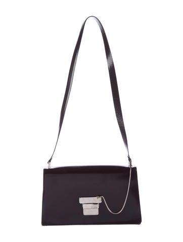 Glazed Leather Shoulder Bag