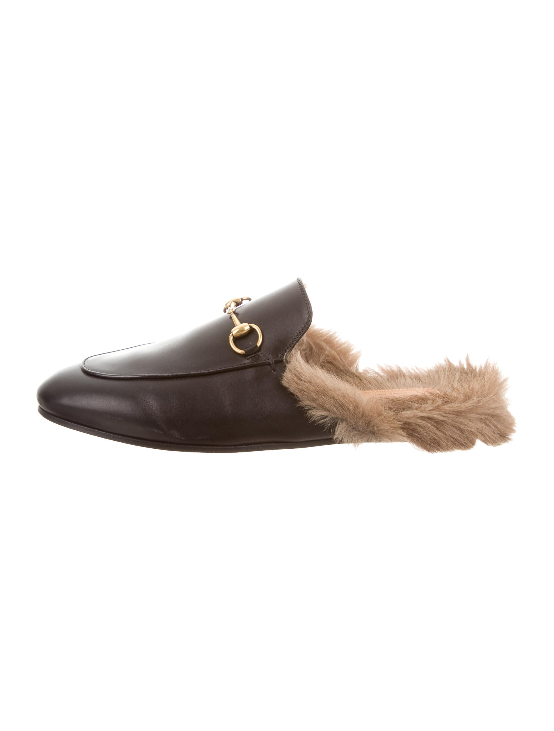 Gucci 2017 Princetown Fur Lined Mules Shoes Guc132559