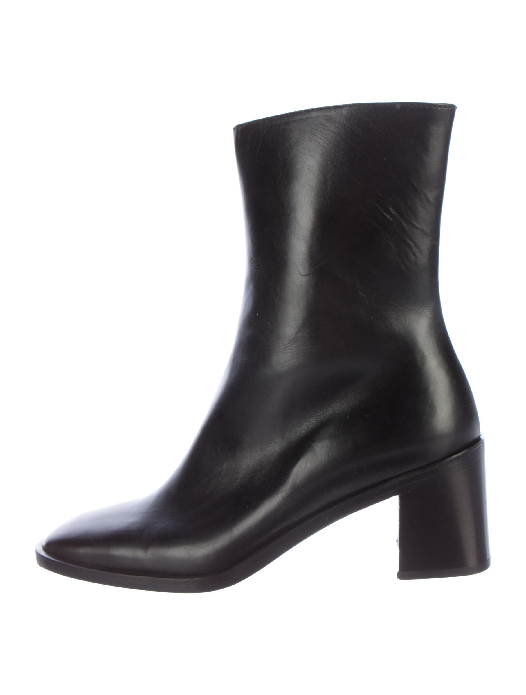 gucci leather square toe ankle boots shoes guc132618