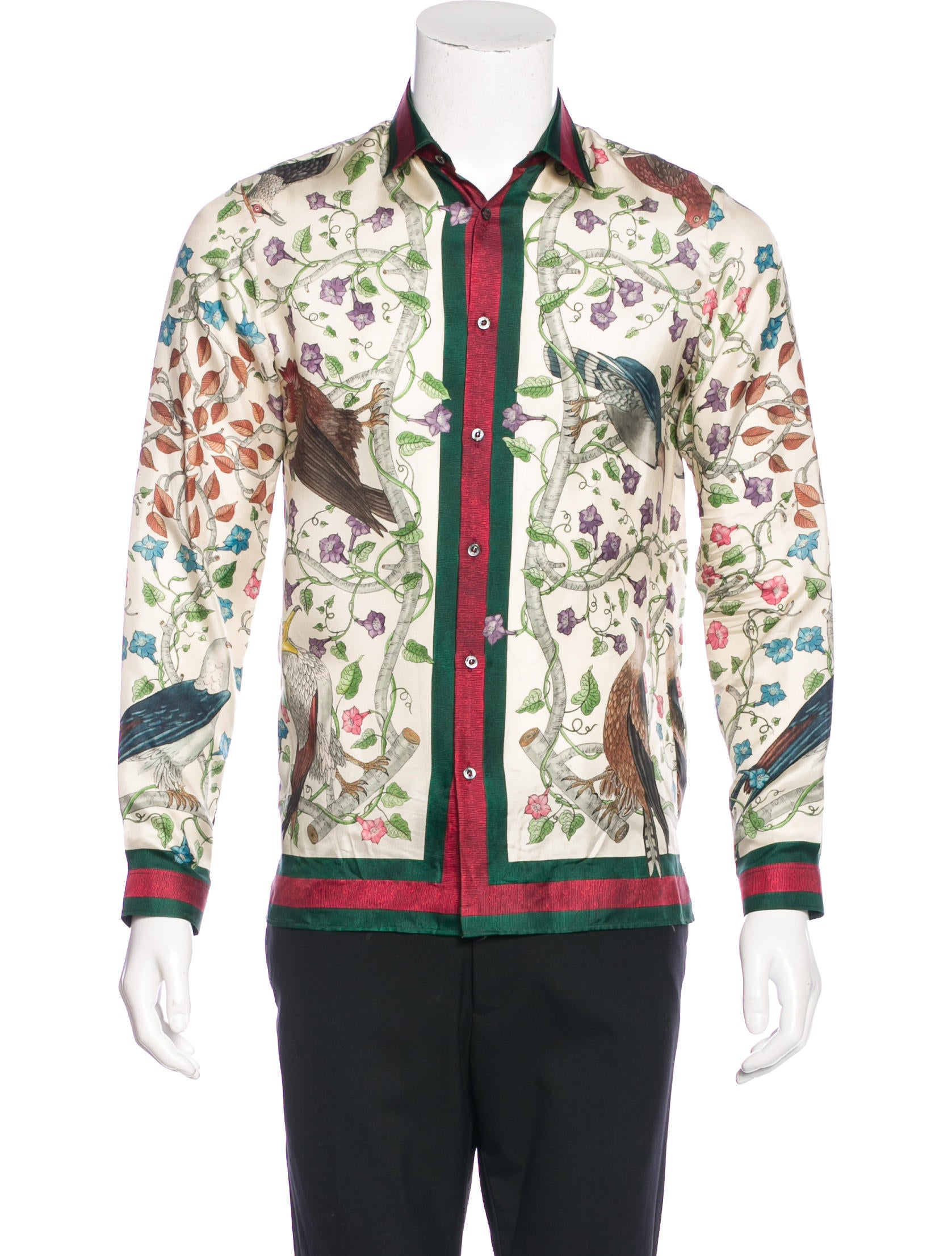 Gucci 2016 Birds of Prey Silk Shirt Clothing GUC132872  : GUC1328721enlarged from www.therealreal.com size 1677 x 2212 jpeg 372kB