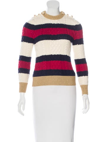 Gucci Fall 2016 Striped Wool Sweater None