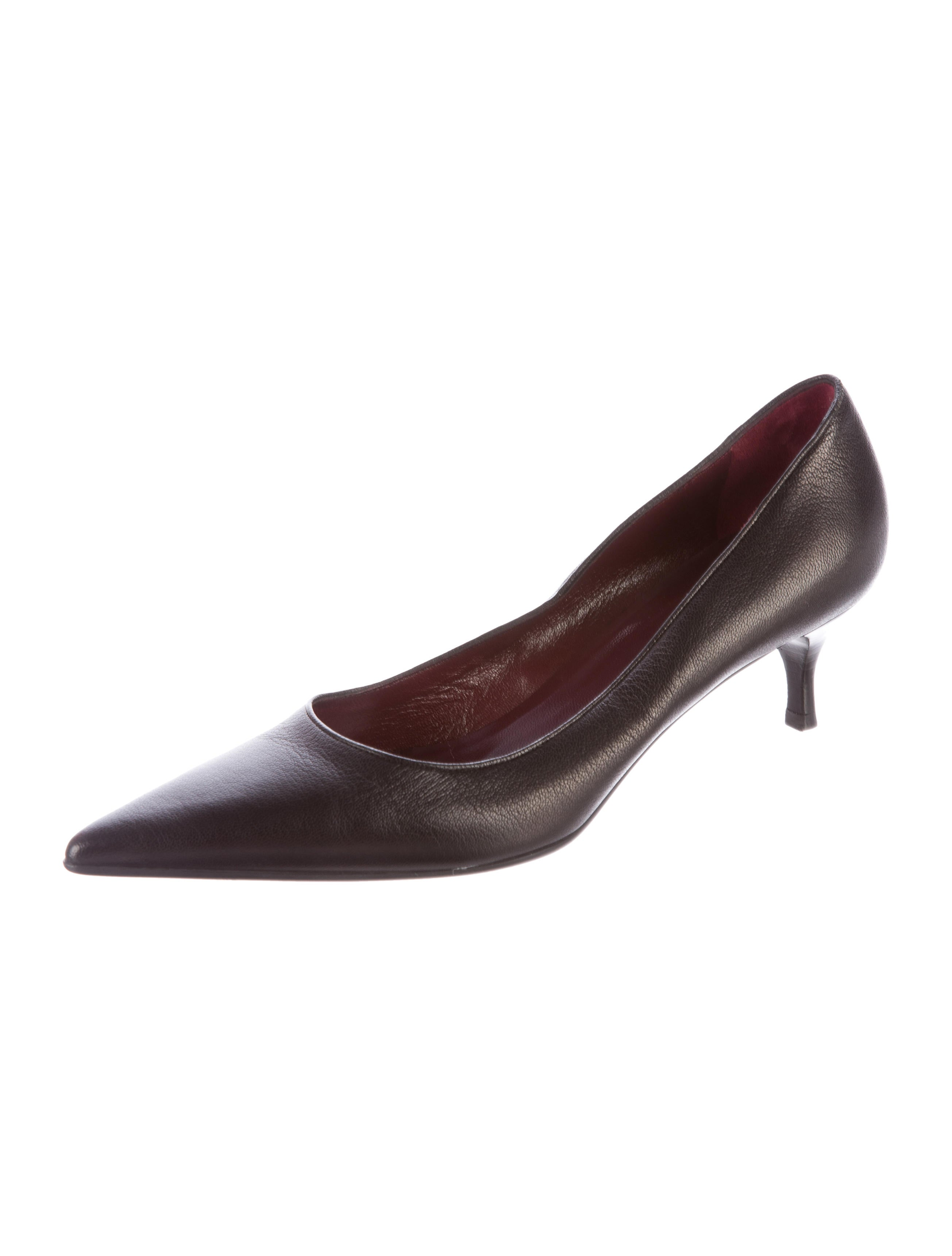 gucci leather pointed toe pumps shoes guc133263 the