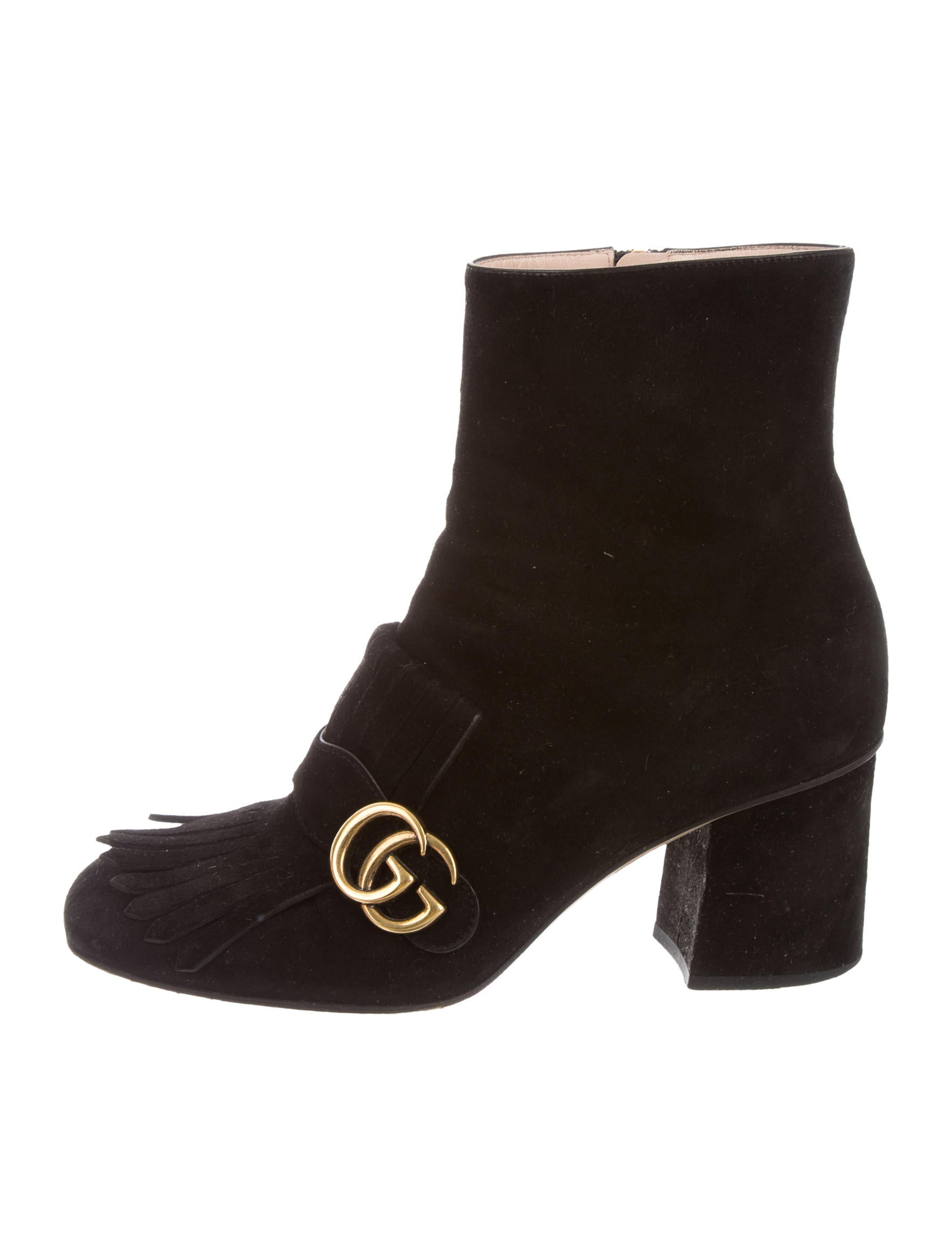 gucci marmont ankle boots shoes guc133421 the realreal