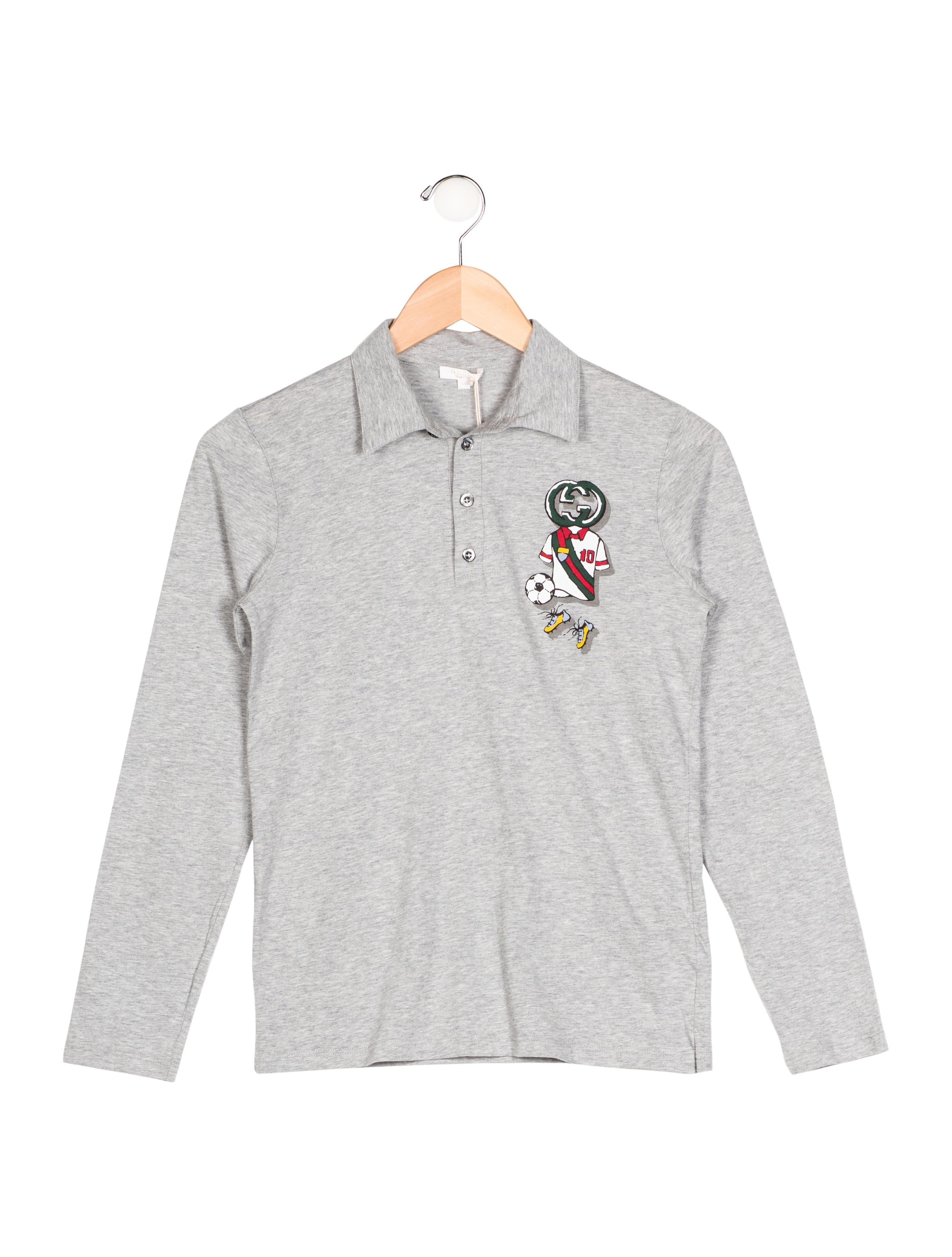 Gucci boys 39 long sleeve polo shirt w tags boys for Long sleeved polo shirts for boys