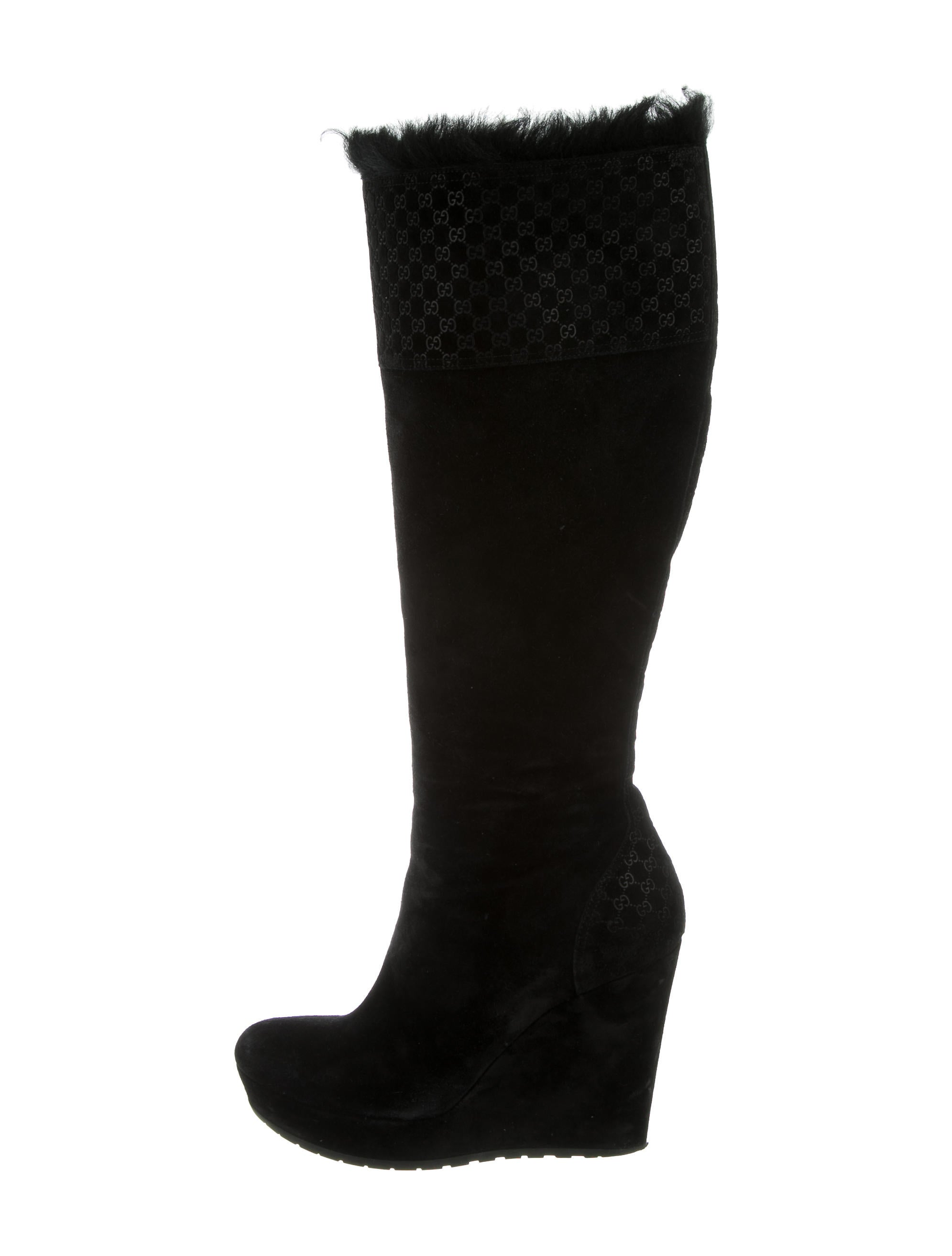 gucci guccissima wedge boots shoes guc133730 the