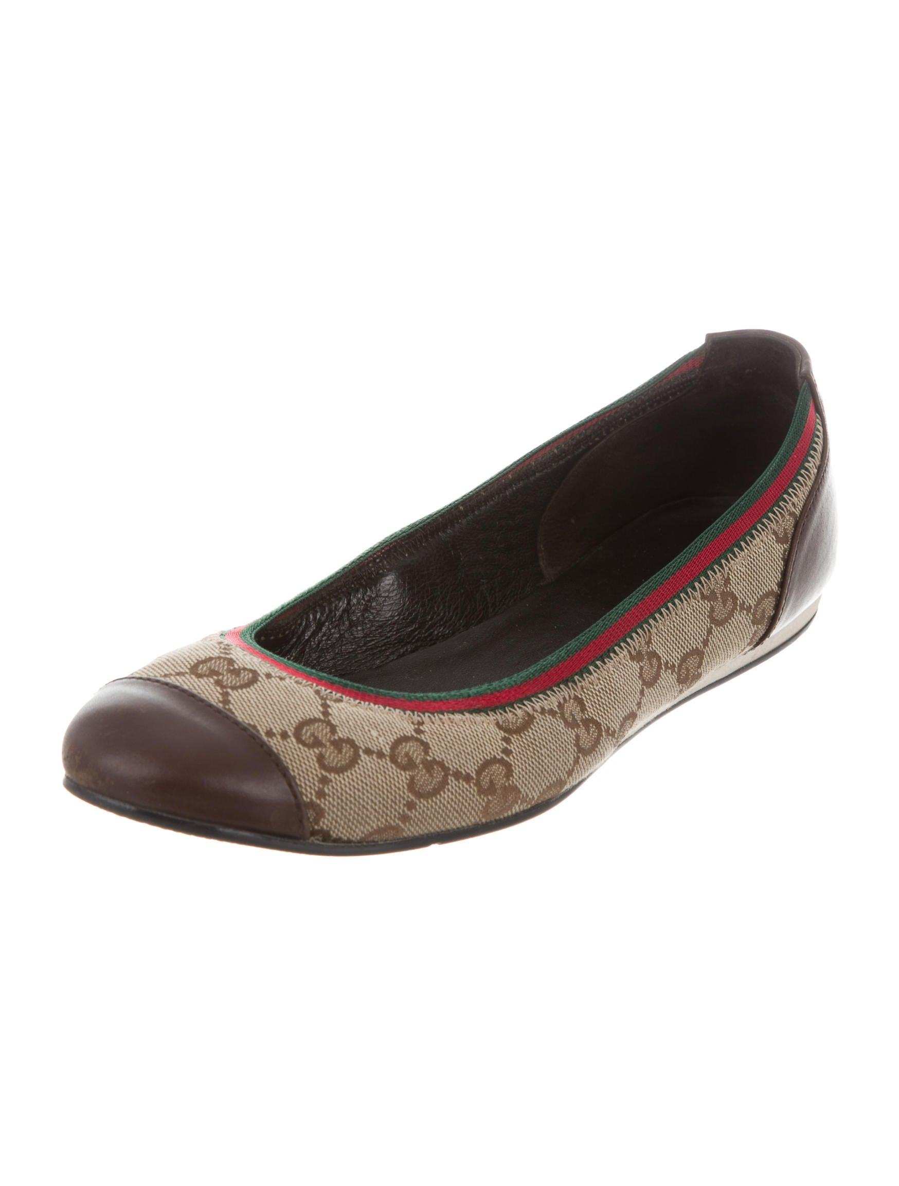 gucci gg canvas ballet flats shoes guc133732 the