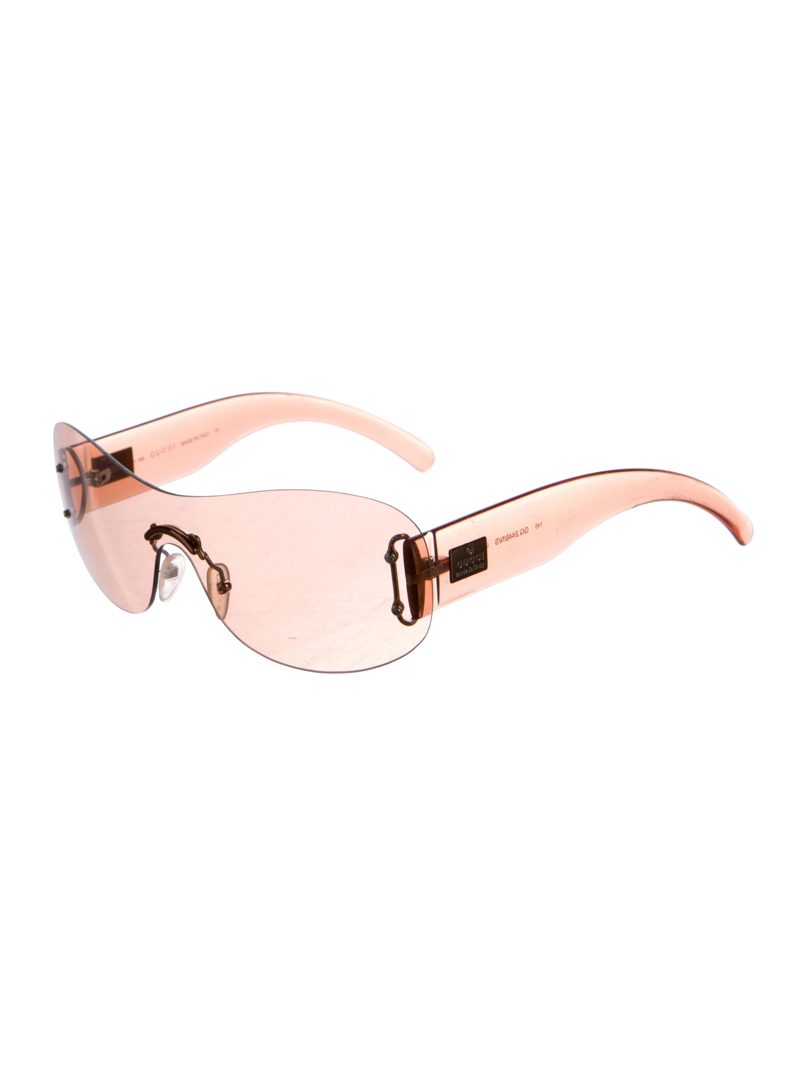 Gucci Rimless Glasses : Gucci Rimless Shield Sunglasses - Accessories - GUC133924 ...