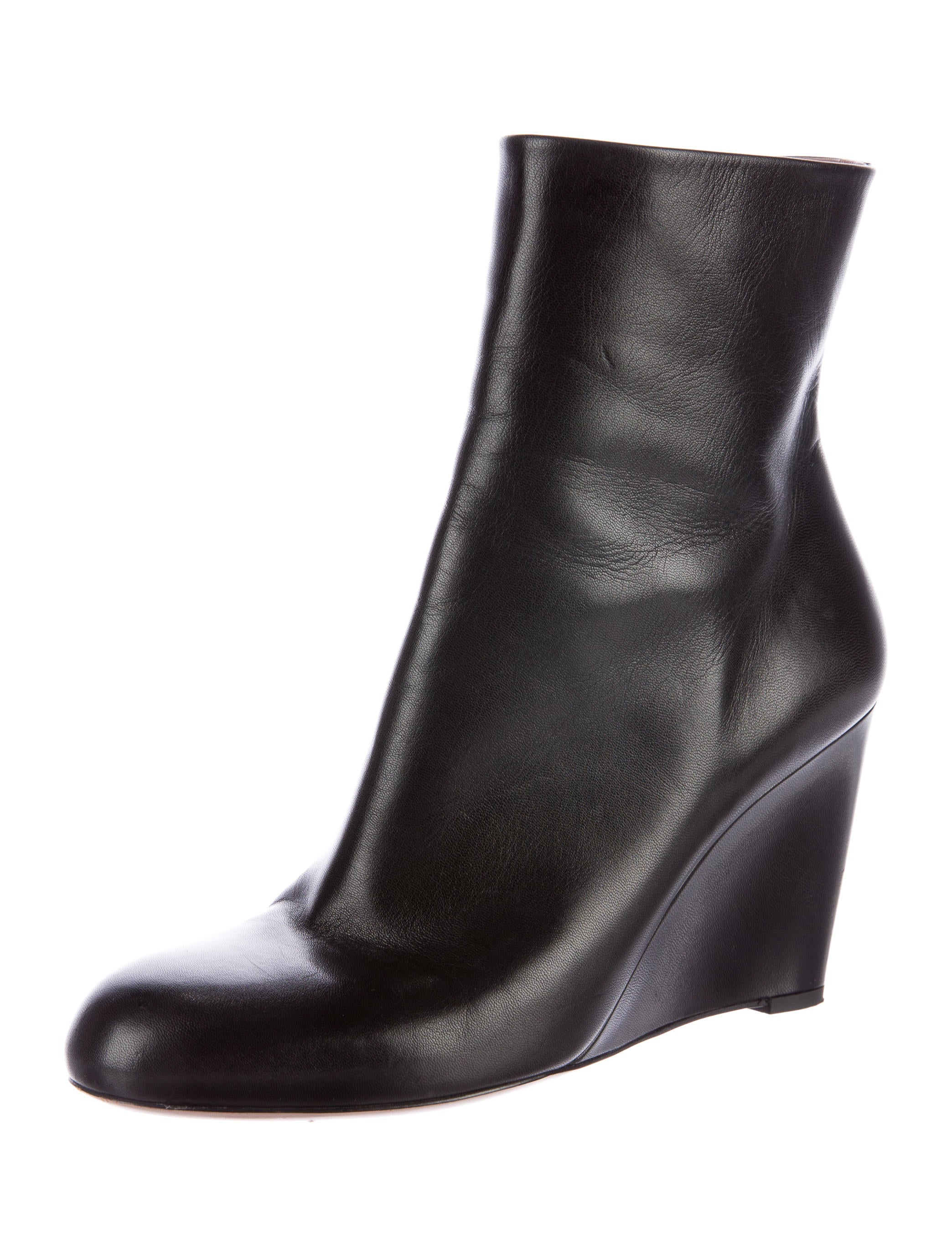 gucci leather wedge ankle boots shoes guc134082 the