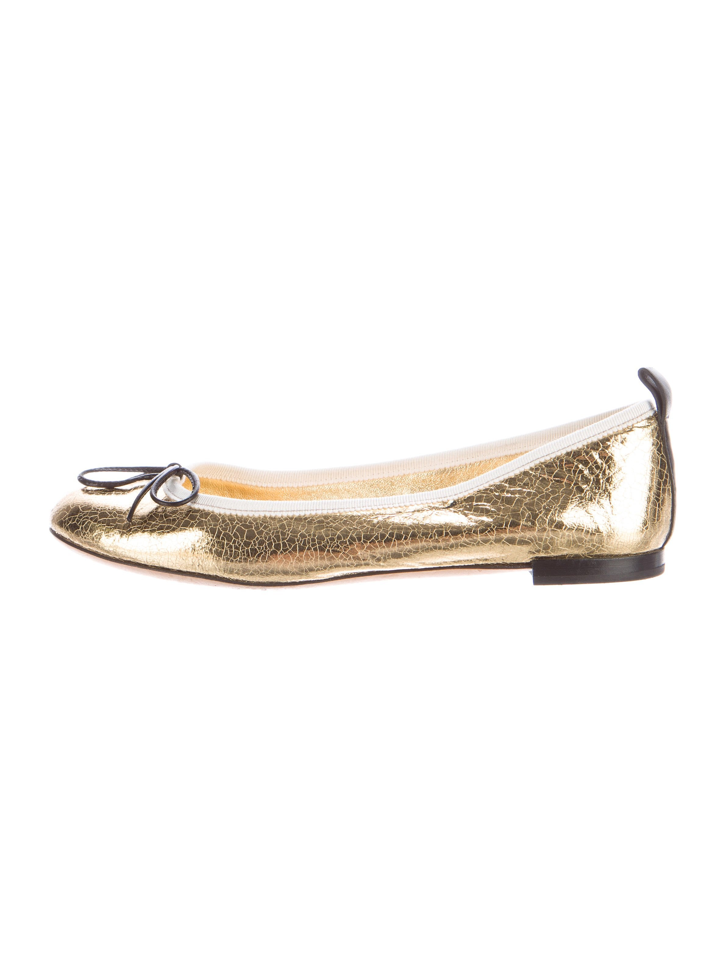 Gucci Metallic Ballet Flats - Shoes - GUC134389 | The RealReal