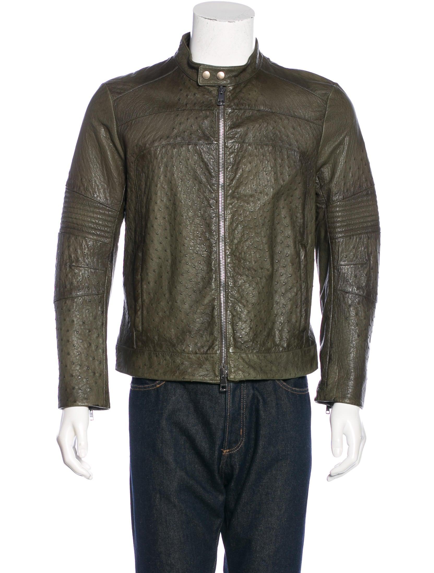 328fa4e6f Gucci Ostrich Biker Jacket - Clothing - GUC134640 | The RealReal