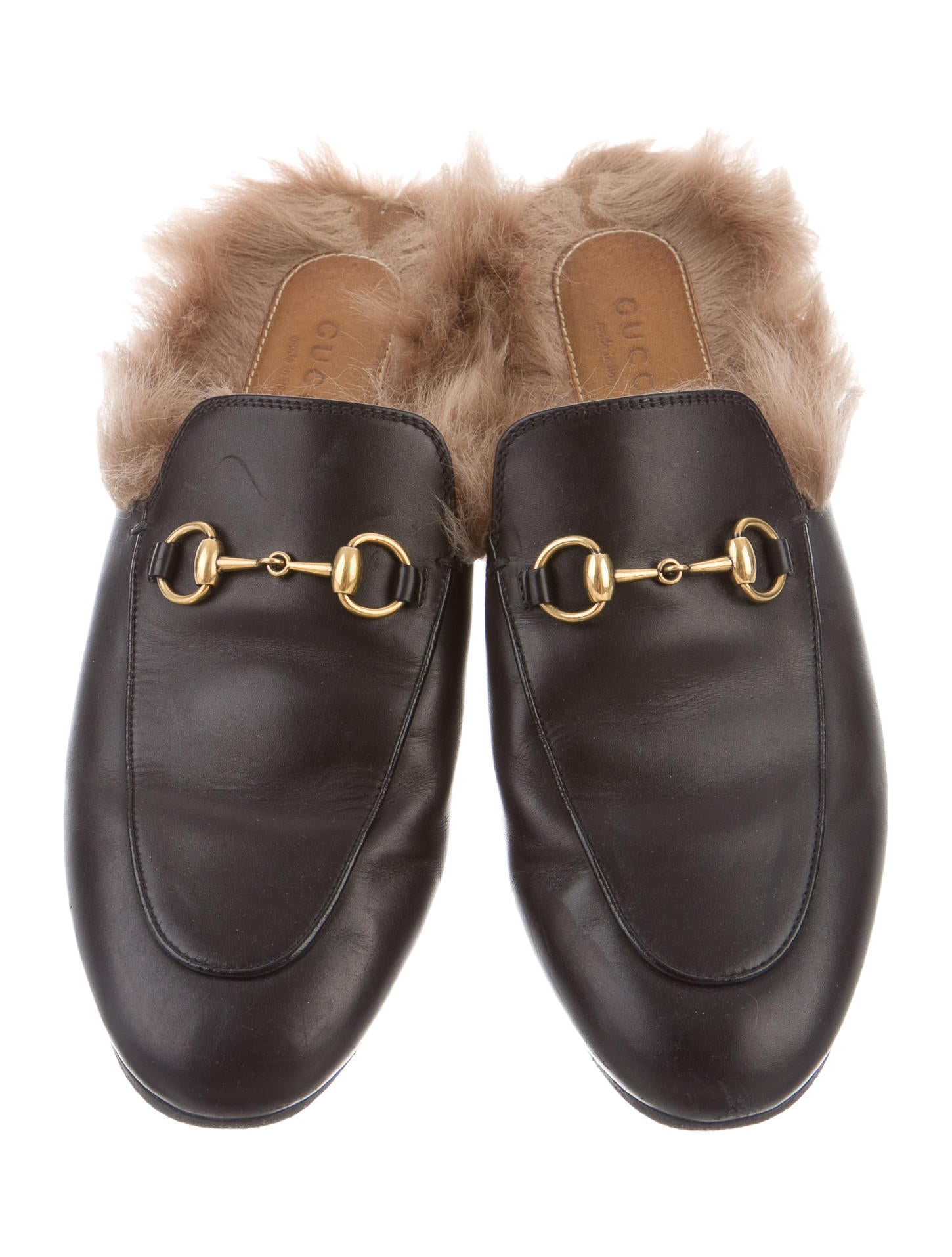 05e33b02dc1631 Gucci 2017 Princetown Fur-Lined Mules - Shoes - GUC134910