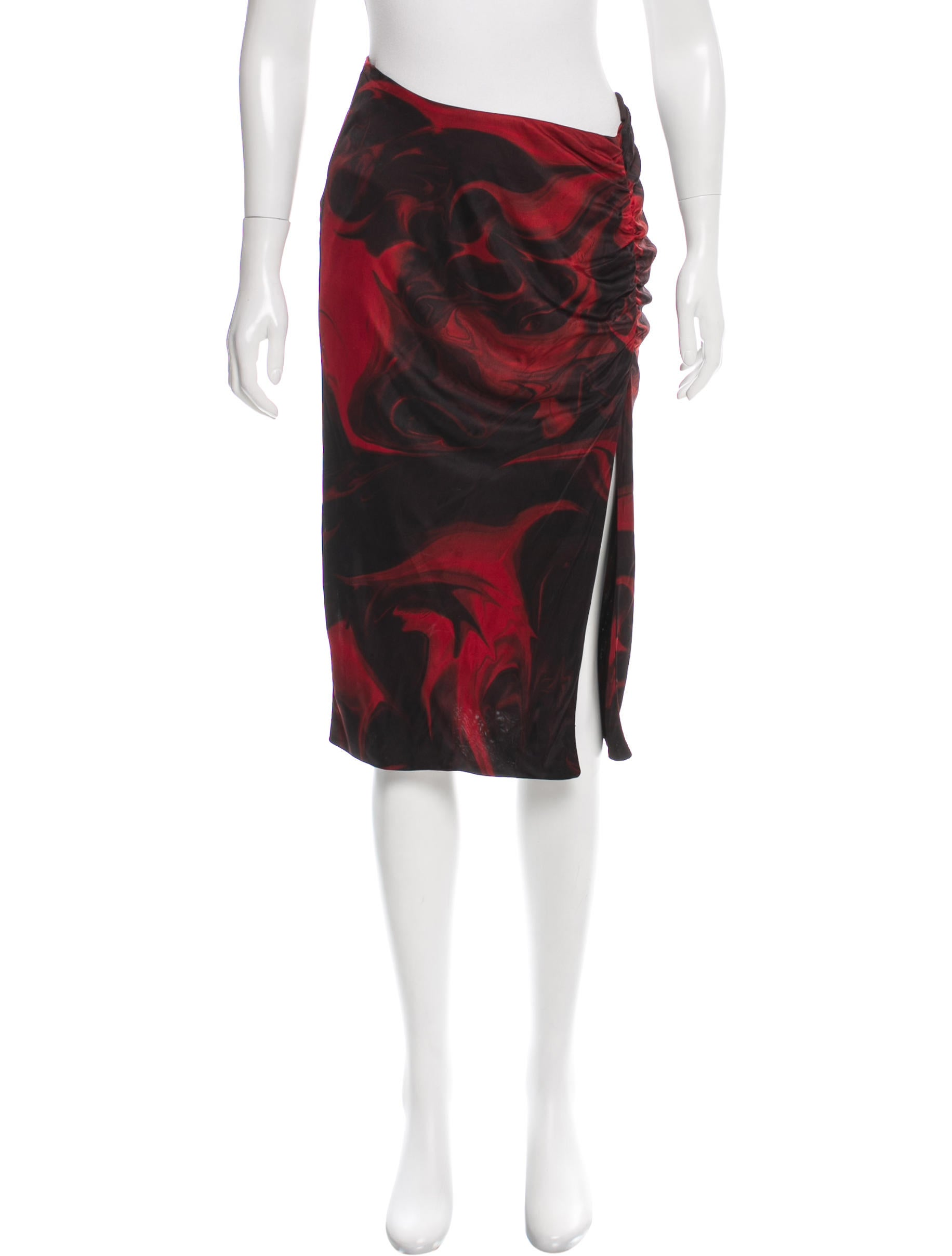 Gucci Printed Knee-Length Skirt - Clothing - GUC135013 | The RealReal