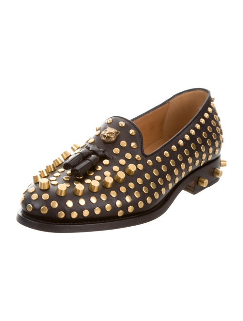 a227cfbe132 Gucci 2017 Sagan Studded Leather Loafers - Shoes - GUC135021