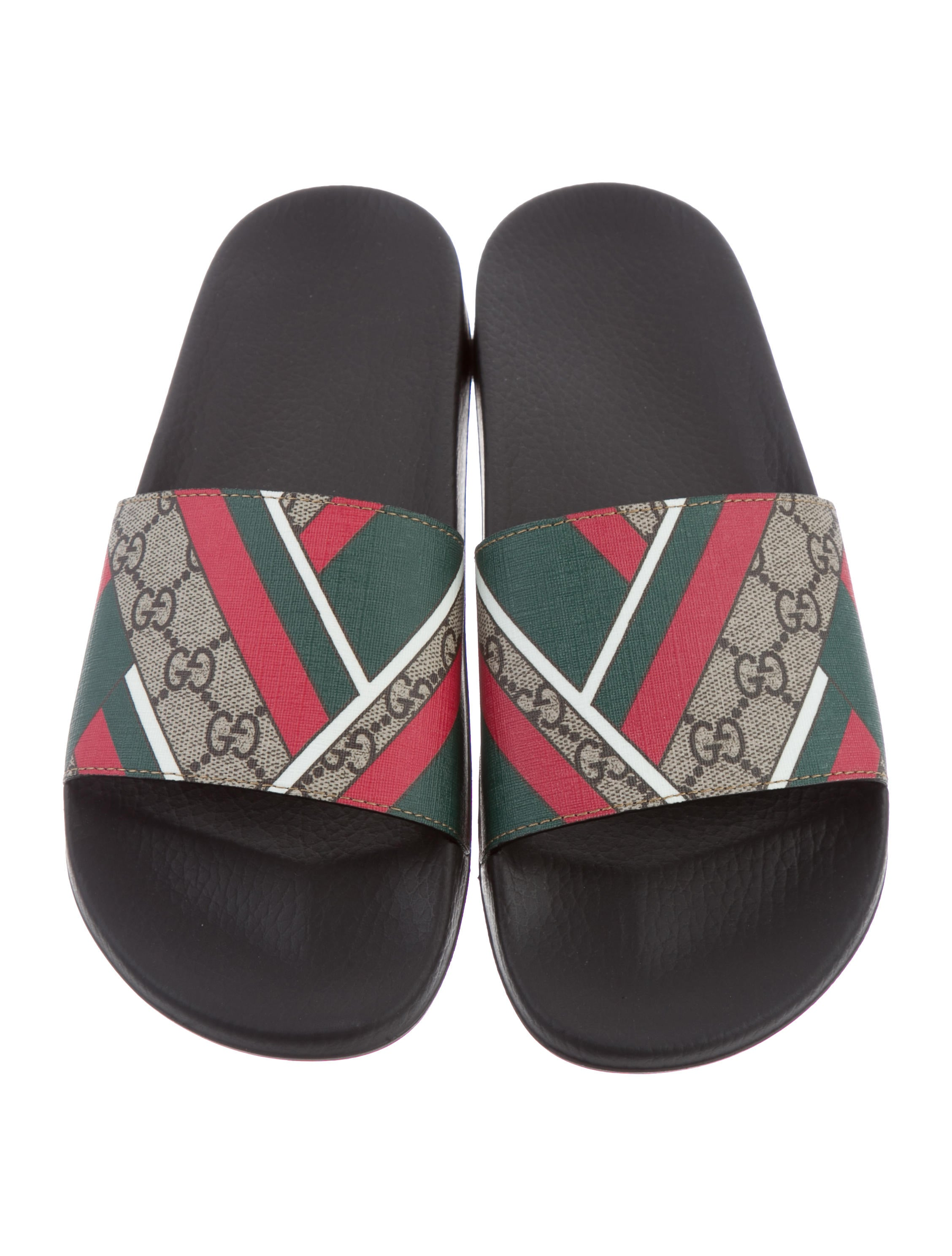 Gucci Gg Supreme Slide Sandals Shoes Guc135075 The
