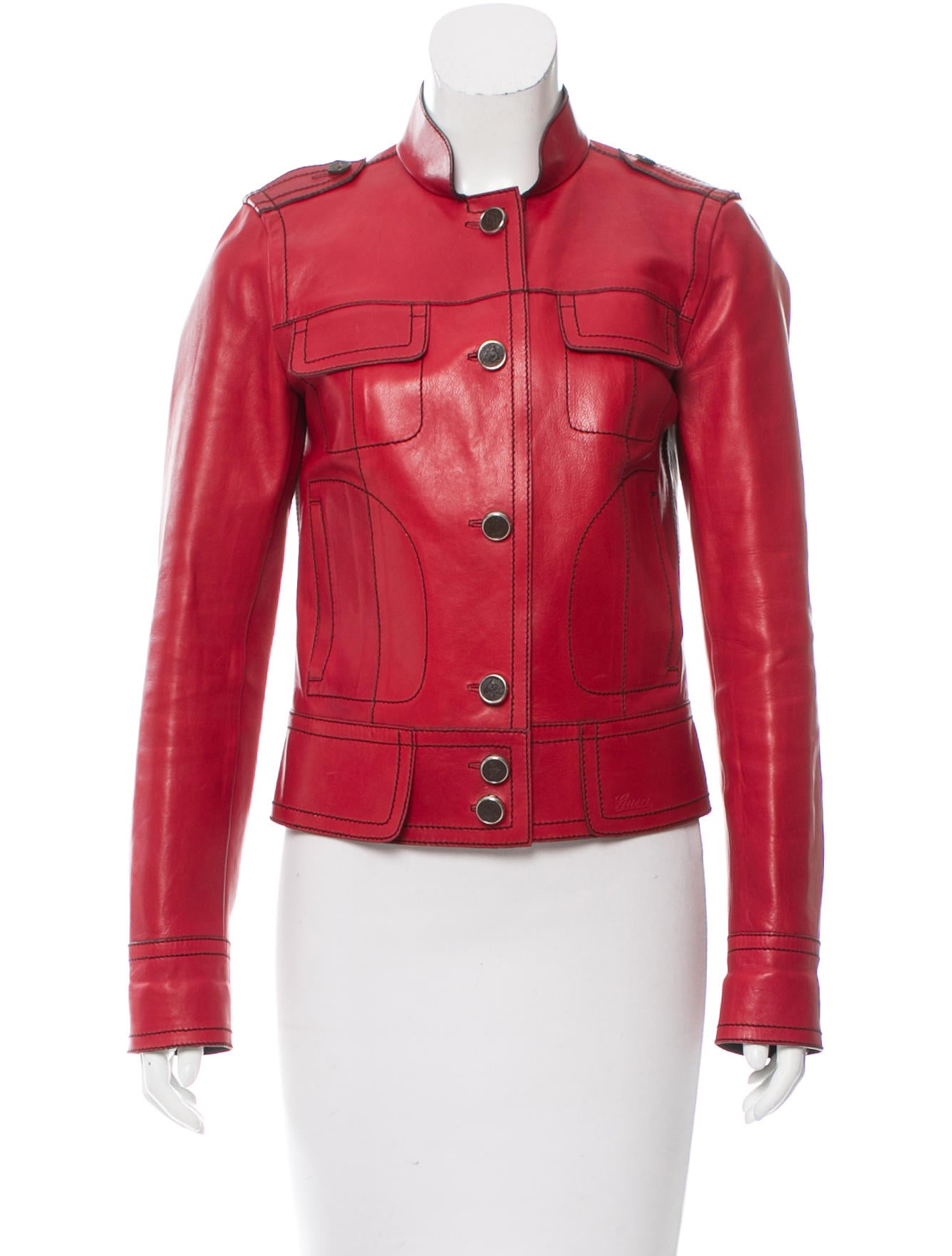 Gucci Casual Leather Jacket - Clothing - GUC135176 | The RealReal