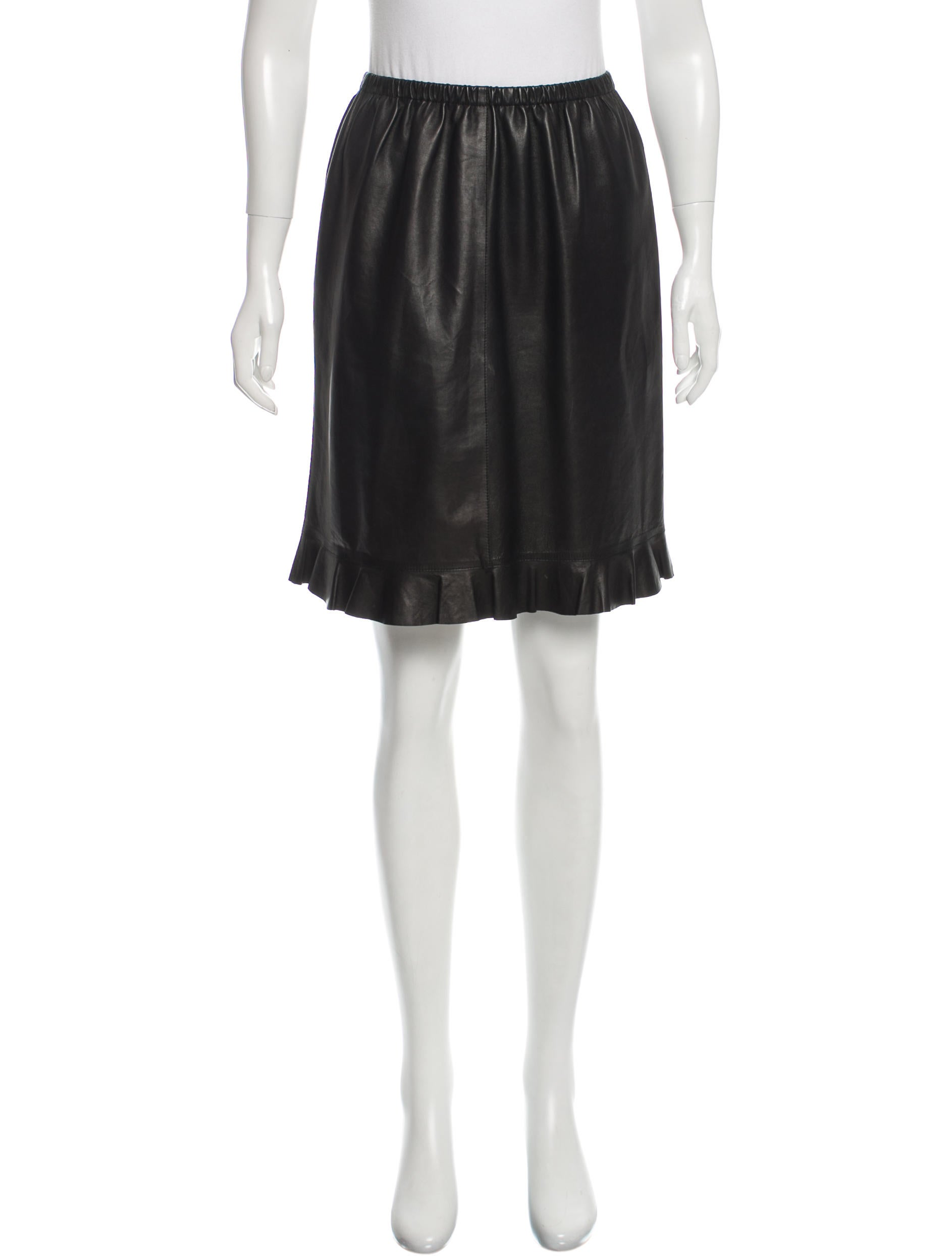 gucci flared leather skirt clothing guc135209 the