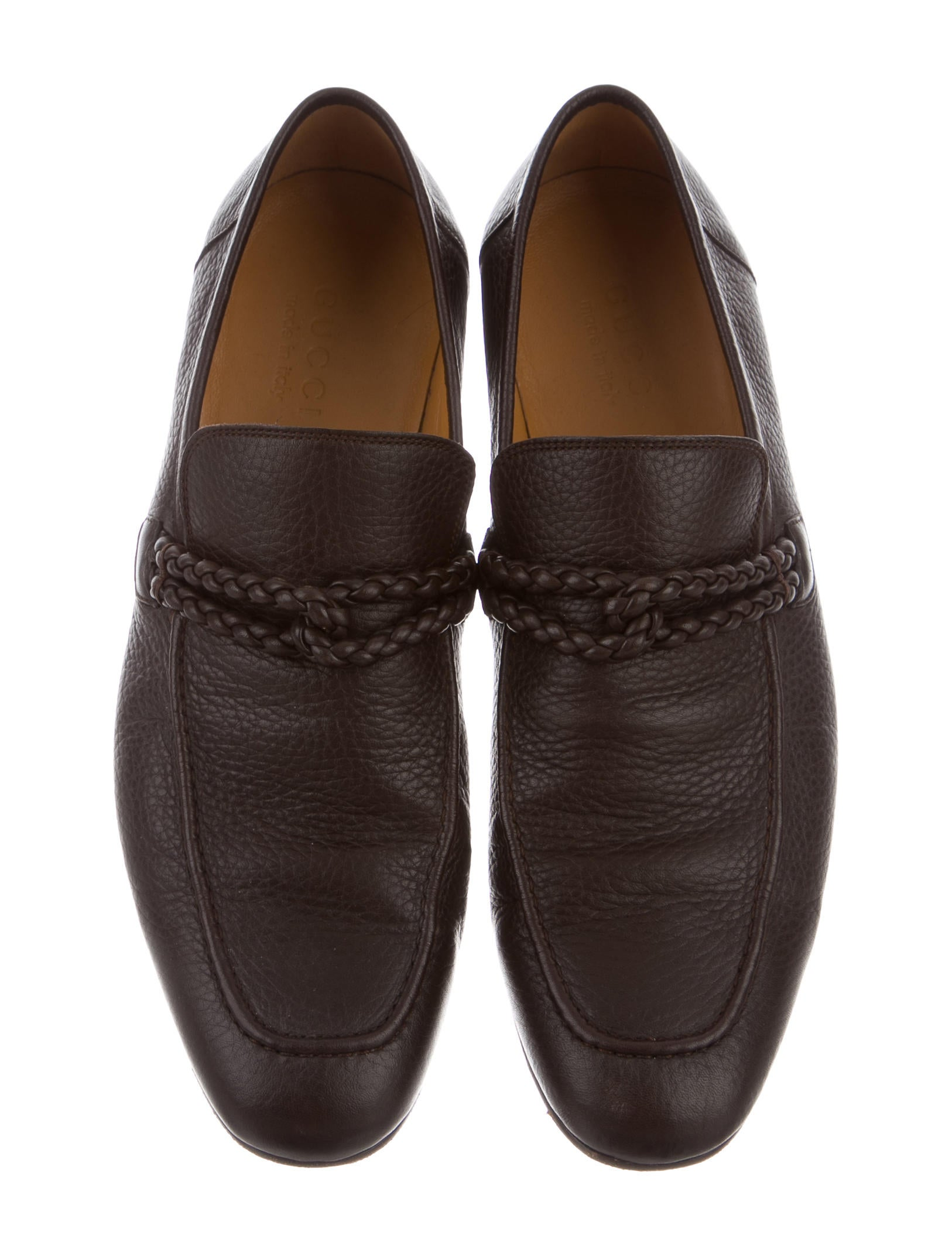 gucci braided leather loafers shoes guc135266 the