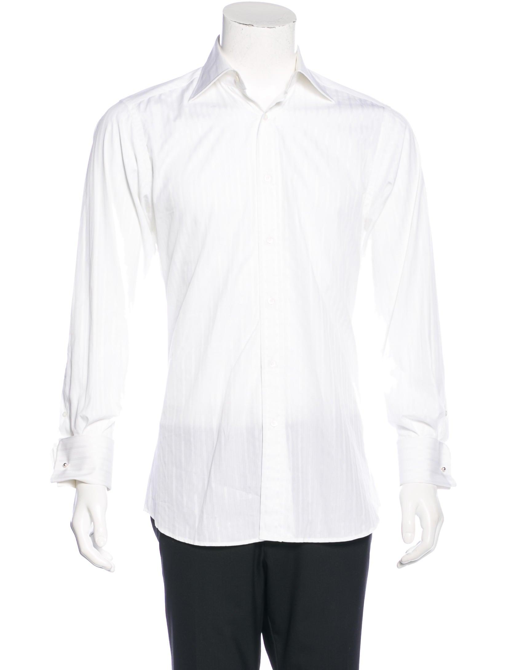 Gucci Striped French Cuff Shirt Clothing Guc135741